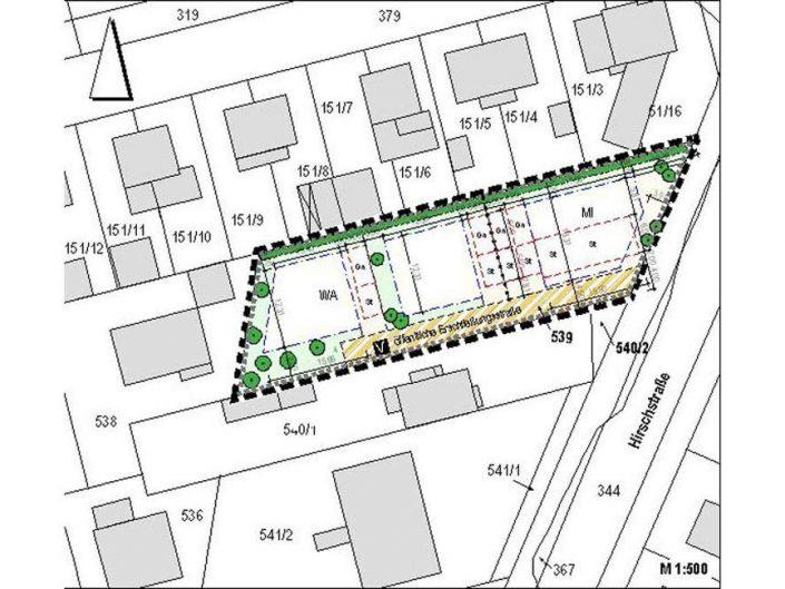 Erstellung des Bebauungsplanes Hirschstrasse 55 in Lorsch